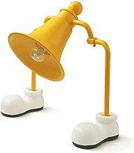 GQQ Yellow Two-Leed Bell Fairy Table Lamp, Cartoon