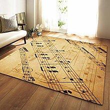 GQYJMSJS Carpet for living roomRetro music symbol