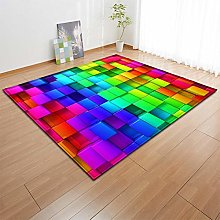 GQYJMSJS Carpet underlay Colorful building blocks