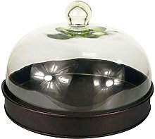 Gr8 Home Round Black Cake Stand Food Serving Tray