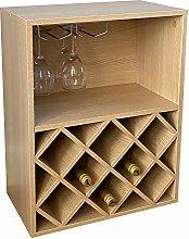Gr8 Home Wooden Table Top Wine Rack 8 Bottle