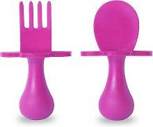 Grabease Self Feeding Cutlery Set - Pink