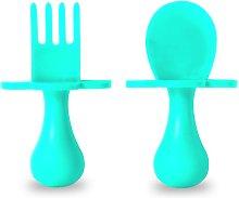 Grabease Self Feeding Cutlery Set - Teal