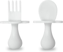 Grabease Self Feeding Cutlery Set - White