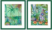 Grace Green - Framed Print & Mount, 63.5 x 53.5cm,