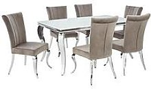 Grace Rectangle Dining Table With 6 Chairs
