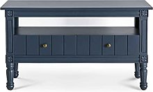 Grace Small Blue TV Stand Unit with 2 Storage