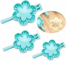 Gracelaza 3 Pcs Flower Shaped Ravioli Dumpling