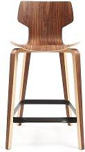 Gràcia 66cm Bar Stool Mobles 114 Colour: Walnut