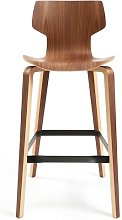 Gràcia 76cm Bar Stool Mobles 114 Colour: Walnut