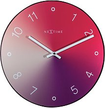 Gradient 40cm Silent Wall Clock NeXtime Colour: Red