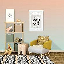 Gradient Color Wallpaper Nordic Living Room Sofa