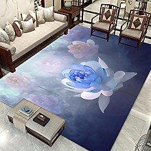 Gradient lotus Area rug modern style rug Used in