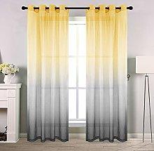 Gradient Sheer Curtains for Bedroom Reversible