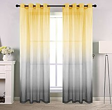 Gradient Sheer Curtains for Girls Bedroom