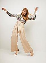 Graduate Fashion Week Tan Wide Leg Trousers With