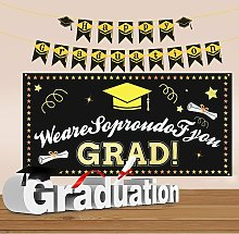 Graduation Banner,Decorations Banner 2021 and Gold