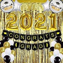 Graduation Decoration 2021 Gold and Black