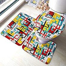 Graffiti Bathmat,Beautiful Color Graffiti Abstract
