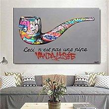 Graffiti Colorful Pipe Poster and Prints Graffiti