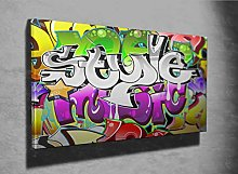 Graffiti Urban Art Design Photo Canvas Print