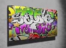 Graffiti Urban Art Design Photo Canvas Print