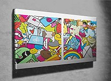 Graffiti Urban Lifestyle Photo Canvas Print
