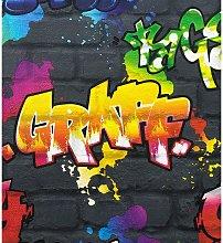 Graffiti Wallpaper - Black 237801 - Rasch