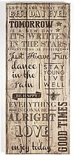 Graham & Brown Best Day Ever Wall Art Print On Wood