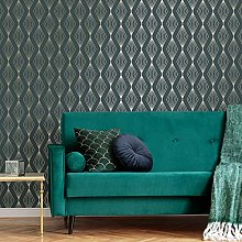 Graham & Brown Boutique Emerald Marquise Geometric