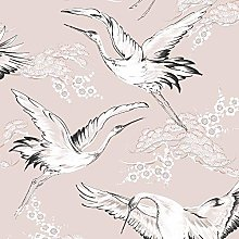 Graham & Brown Crane Wallpaper, Pink