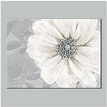 Graham & Brown Grey Bloom Canvas With Foil Print