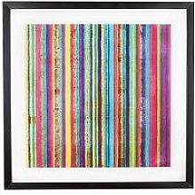 Graham & Brown Neon Stripe Framed Wall Art