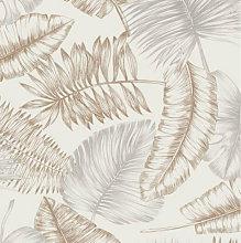 Graham & Brown Wallpaper 103849 Daintree Taupe &