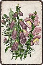 Graman Metal Tin Retro Sign 1899 Antique FLOWER
