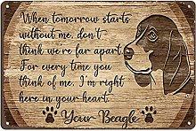 Graman Metal Tin Retro Sign- Beagle In Your Heart
