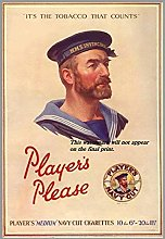 Graman Players Navy Cut Cigarettes, WWII - A4