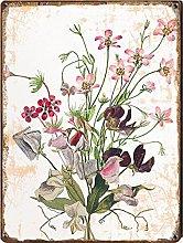 Graman Sweetpea Wildflower Botanical Art Print,