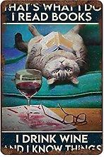 graman Vintage That's What I Do Tin Sign Cat