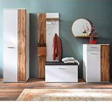 Granada Hallway Set In White Gloss And Oak With