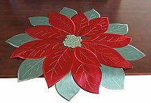GRANDDECO Holiday Christmas Tablecloth,Applique