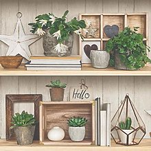 Grandeco Exposure Shelf Plants Decorative