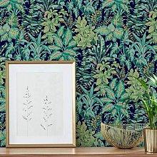 Grandeco Life Calathea Teal Wallpaper 167103