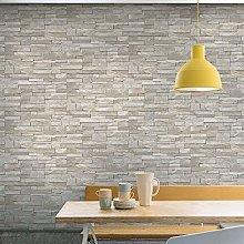 Grandeco Stone Pattern Wallpaper Faux Effect