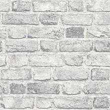Grandeco Vintage House Brick Pattern Wallpaper