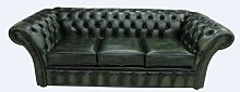 Granger Genuine Leather 3 Seater Chesterfield Sofa