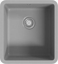 Granite Kitchen Sink Single Basin Grey - Grey -