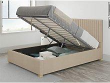 Grant Ottoman Upholstered Bed, Kimiyo Linen, Beige