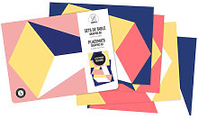 Graphics 02 Colouring mat set - /Set of 24 by OMY