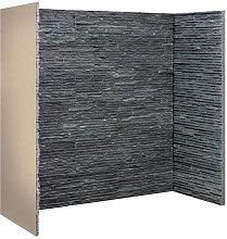 Graphite Slate Waterfall Fireplace Chamber